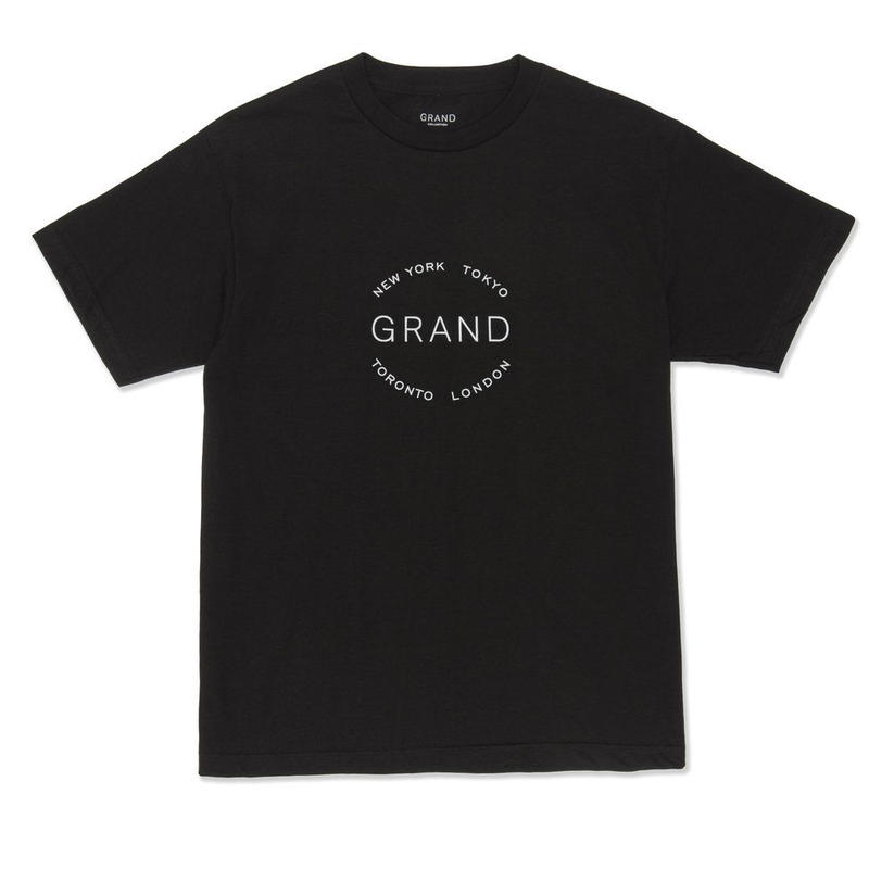 GRAND COLLECTION  CITIES TEE BLACK