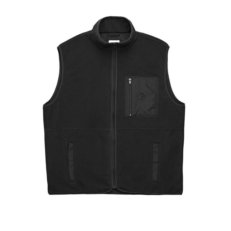POLAR SKATE CO. STENSTRÖM FLEECE VEST Black