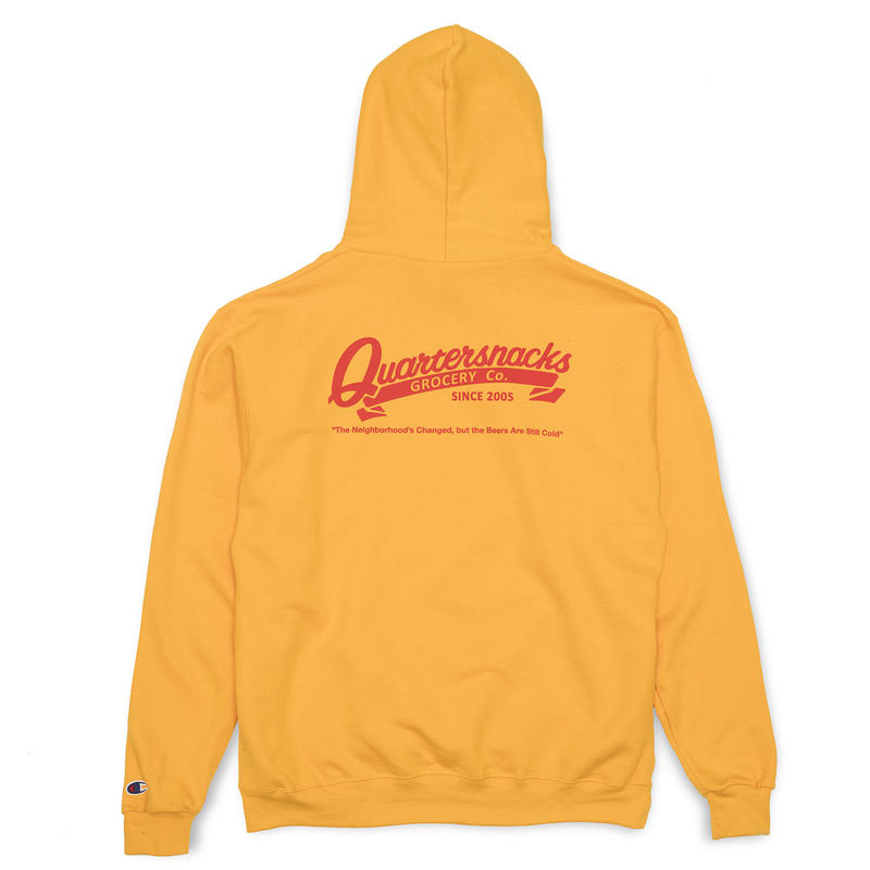 QUARTER SNACKS GROCERY CHAMPION HOODIE YELLOW