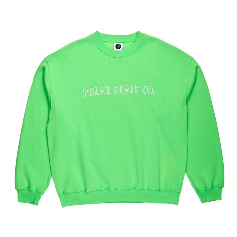 POLAR SKATE CO. OUTLINE CREWNECK Summer Green