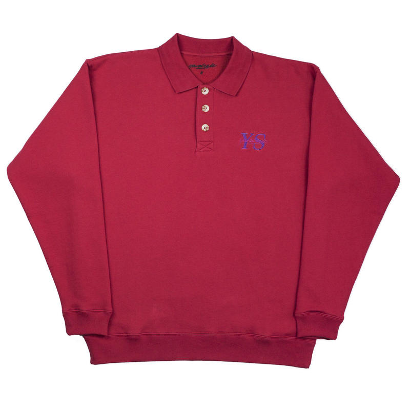 YARDSALE Red YS polo sweat