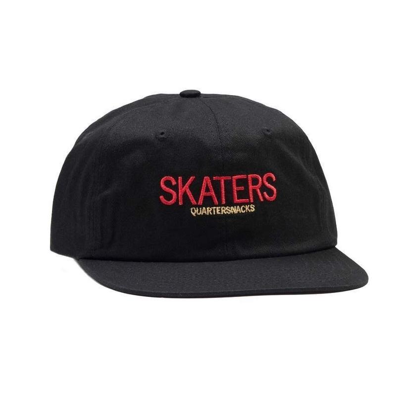 QUARTER SNACKS Skaters Cap — Black