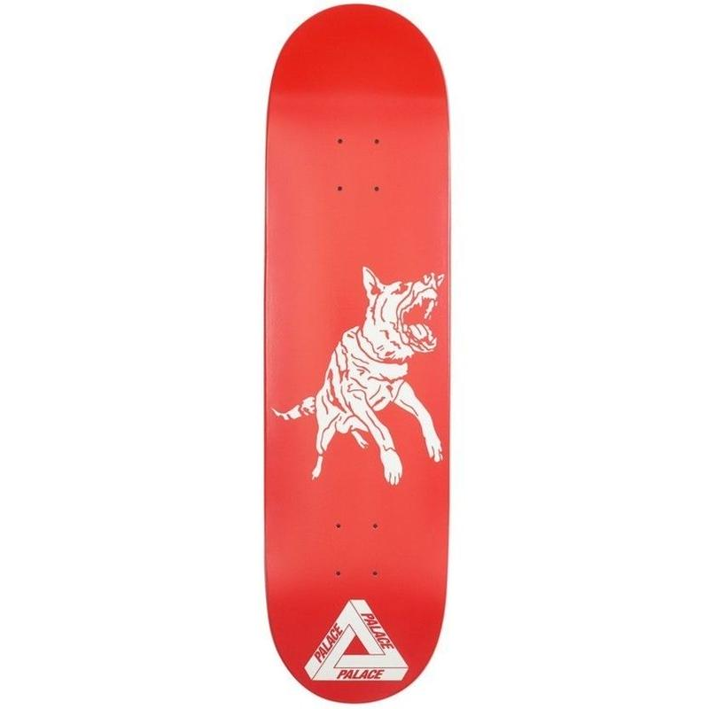 PALACE SKATE DECK DOG RED 8.375