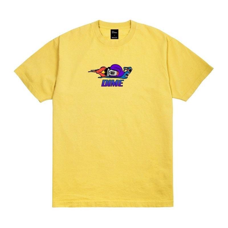 DIME SNAIL T-SHIRT  Mustard
