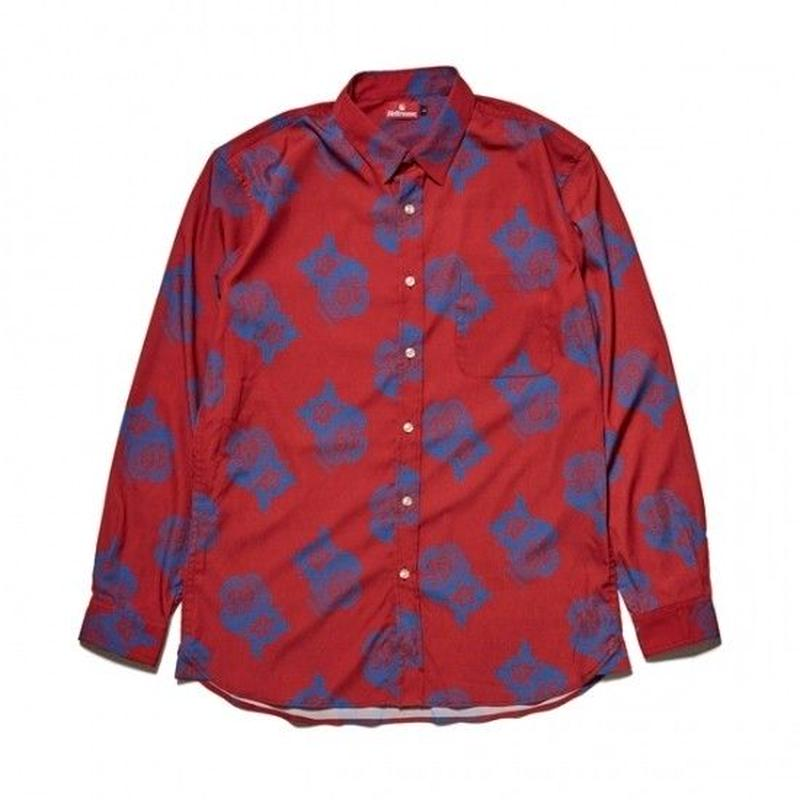 Hellrazor Paisley Dress Shirts - Red