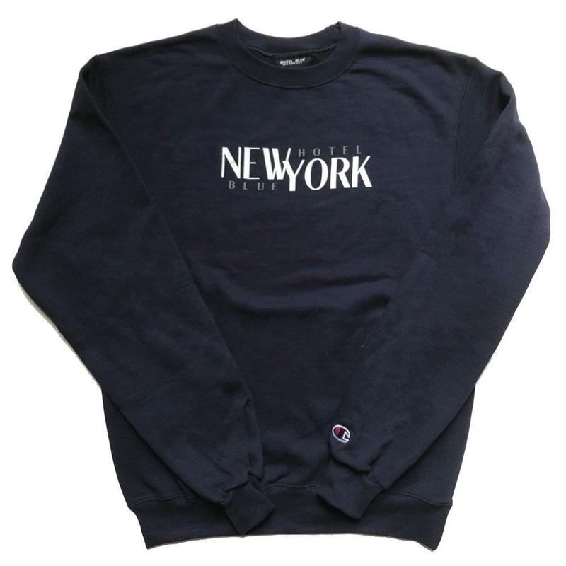 HOTEL BLUESTACKS CHAMPION CREWNECK NAVY
