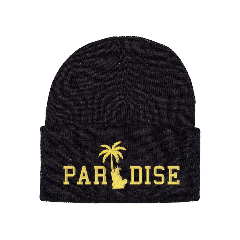 PARADISE.NYC LIBERTY PALM GOLD SKULLY Black