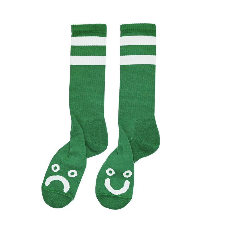 POLAR SKATE CO. HAPPY SAD SOCKS Green