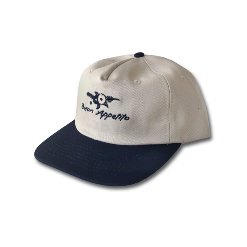 COME SUNDOWN BUON APPETITO CAP CREAM & NAVY