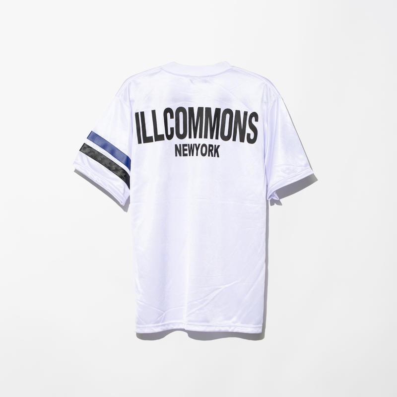 ILLCOMMONS FOOTBALL JERSEY T-SHIRTS WHITE(イルコモンズ フットボールジャージTシャツ ホワイト)