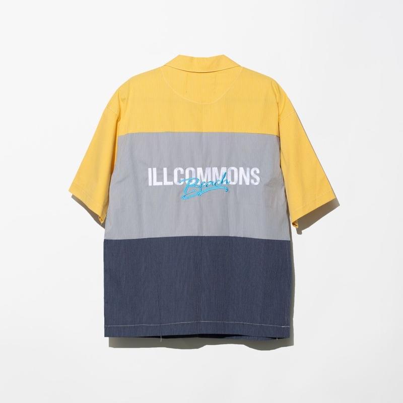 ILLCOMMONS BEACH TRICO WORK  S/S SHIRTS  NAVY(イルコモンズ ビーチトリコ ワークシャツ ネイビー)