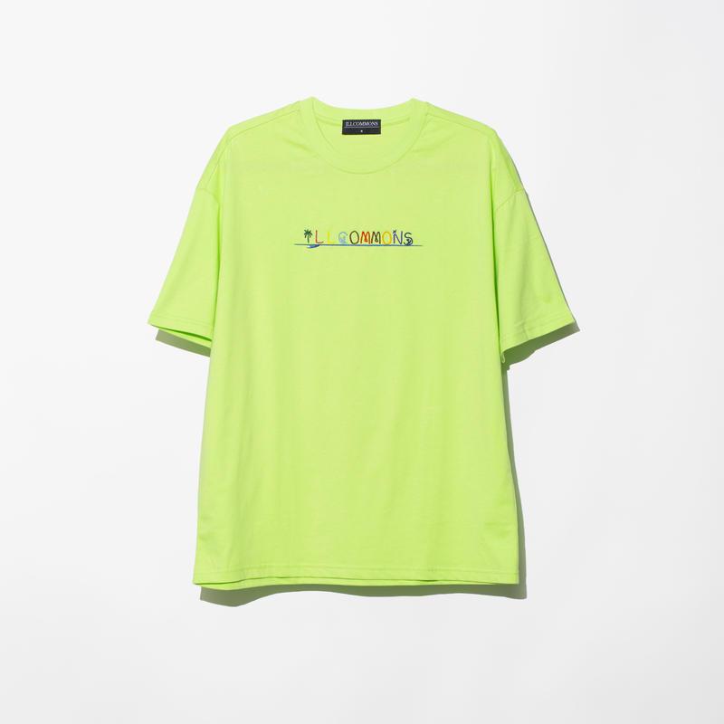 ILLCOMMONS SURF STITCH T-SHIRTS YELLOWGREEN(イルコモンズ サーフスティッチ Tシャツ イエローグリーン)