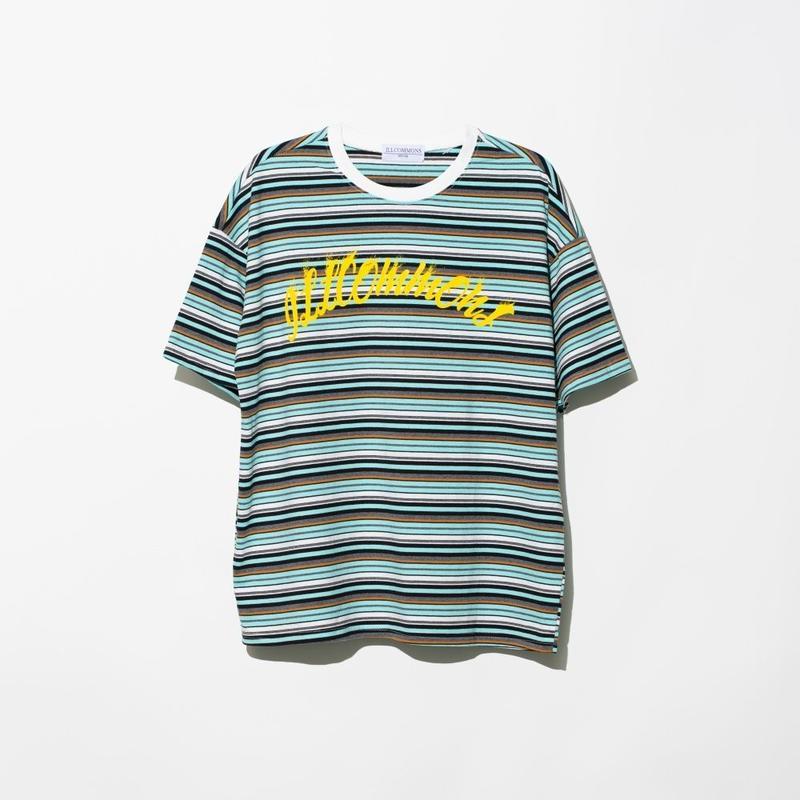 ILLCOMMONS SAND WAVE BORDER T-SHIRTS BLUE(イルコモンズ サンドウェーブ Tシャツ ブルー)