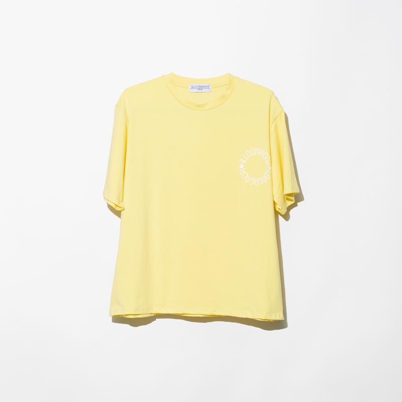 ILLCOMMONS CIRCLE LOGO BEACH T-SHIRTS YELLOW(イルコモンズ サークルロゴ ビーチTシャツ イエロー)