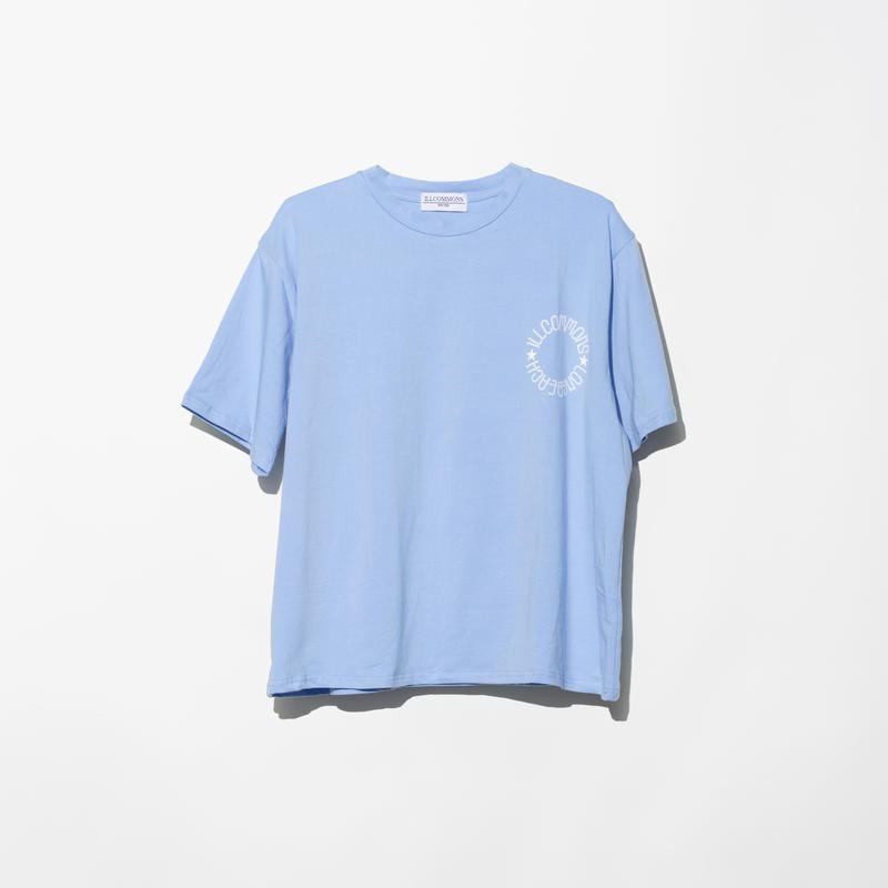 ILLCOMMONS CIRCLE LOGO BEACH T-SHIRTS BLUE(イルコモンズ サークルロゴ ビーチTシャツ ブルー)