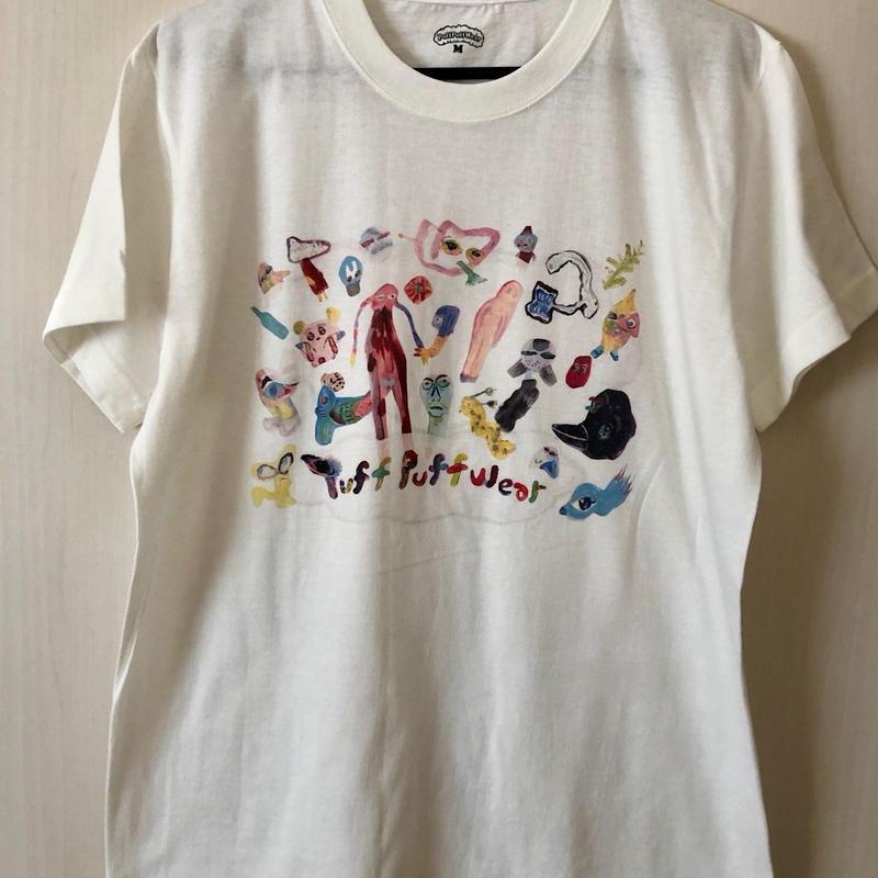 【コラボ】yokai_puff_cloud TEE  (VANILLA WHITE)