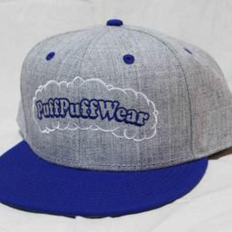 【刺繍】Puff Puff SNAPBACK CAP (GRAY/ROYAL BLUE)