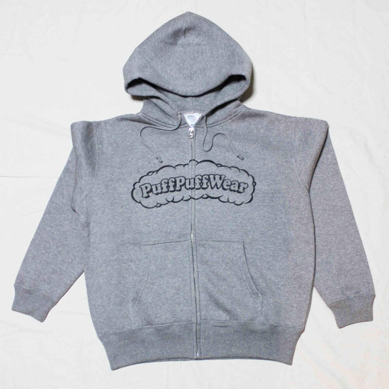 【裏起毛】Puff Puff  ZIP HOOD PARKA (GRAY/BLACK)
