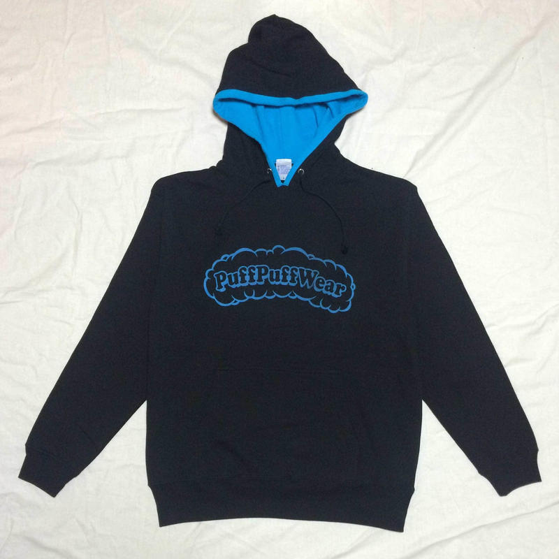 Puff Puff Two-tone HOOD PARKA (BLACK/BLUE)