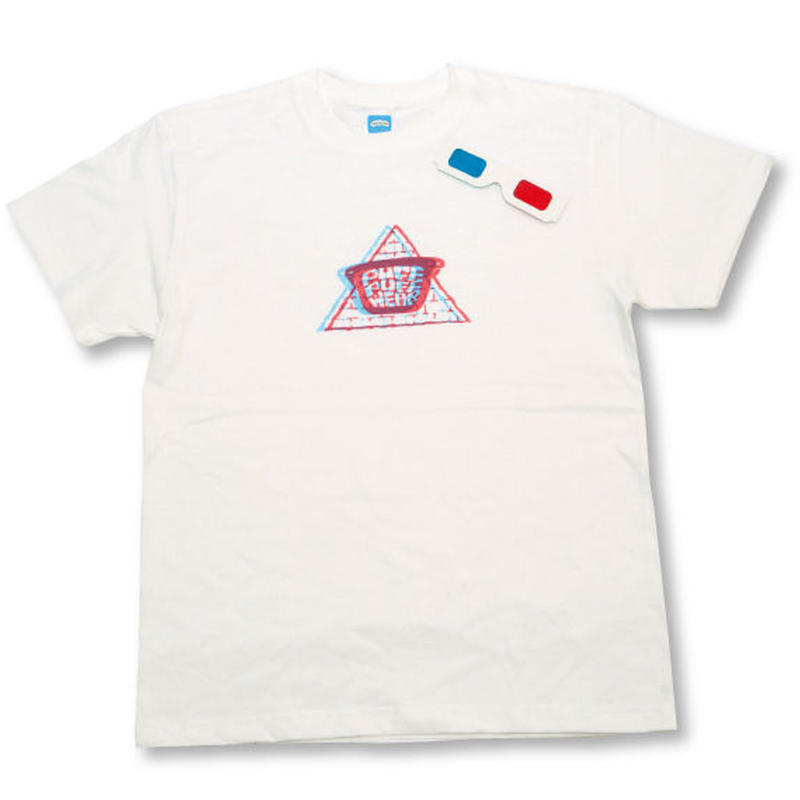 【3Dメガネ】Dazzling Pyramid TEE (WHITE)