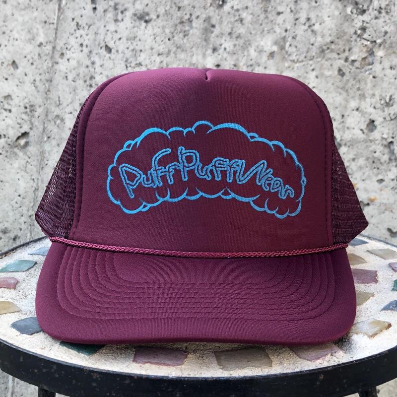 Puff Puff Kids MESH CAP (BURGUNDY/BLUE)