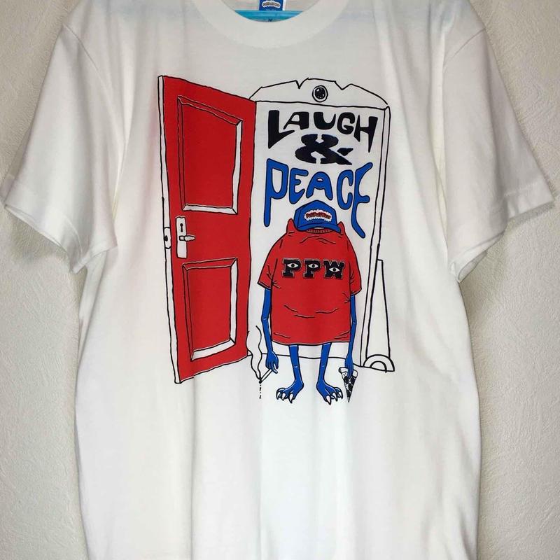 LAUGH & PEACE TEE (WHITE)
