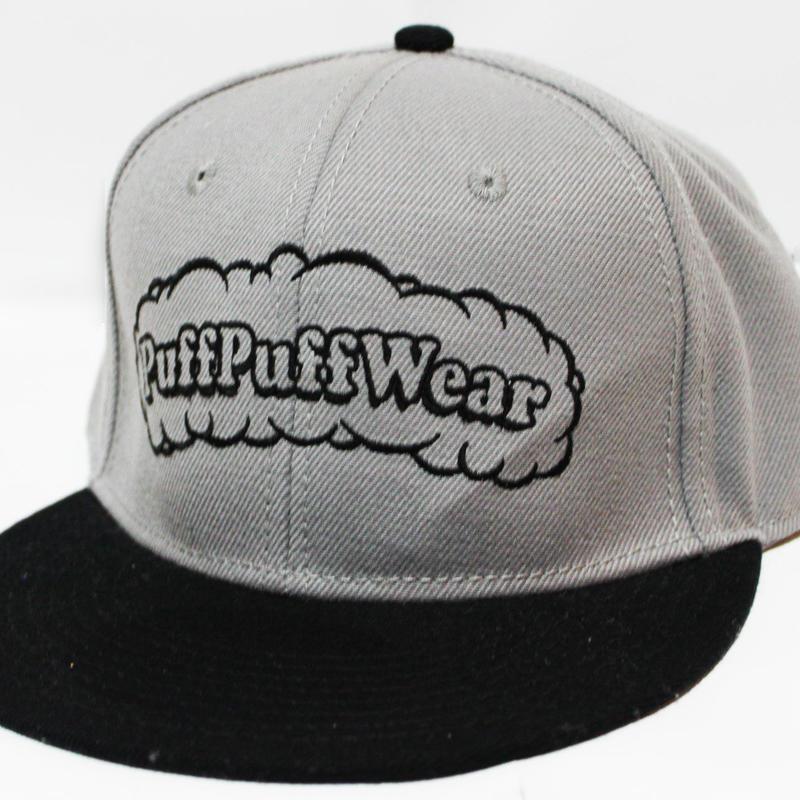 【刺繍】Puff Puff SNAPBACK CAP (GRAY/BLACK)