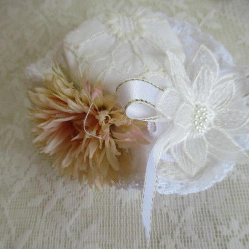 マーガレット刺繍のお帽子