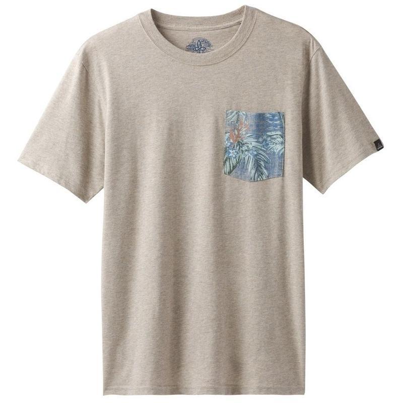 PRAN Pocket T-Shirt Dark Khaki Heather