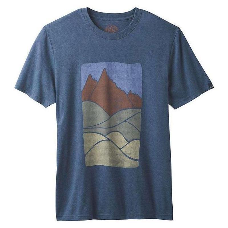 PRANA Ezer T-Shirt Navy Heather