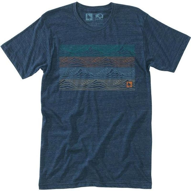 HIPPY TREE GRADIENT TEE HEATHER NAVY