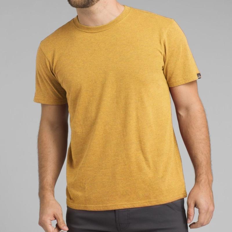 PRANA Crew Neck T-shirt Marigold Heather