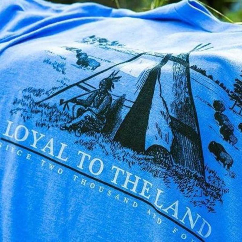 HIPPY TREE LOYAL TEE HEATHER BLUE