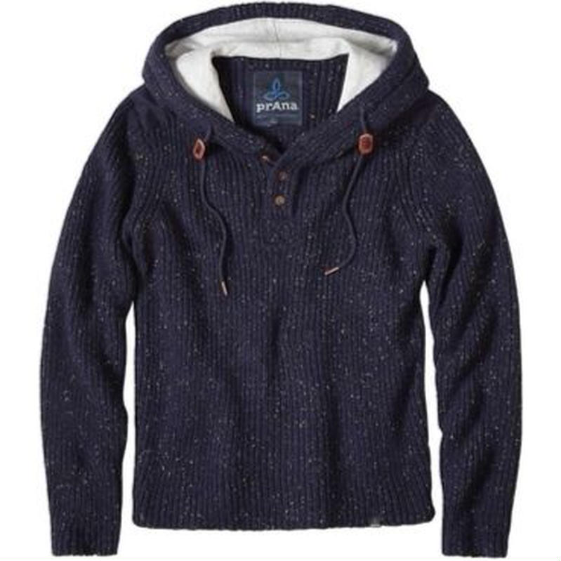 PRANA Hooded Henley Sweater