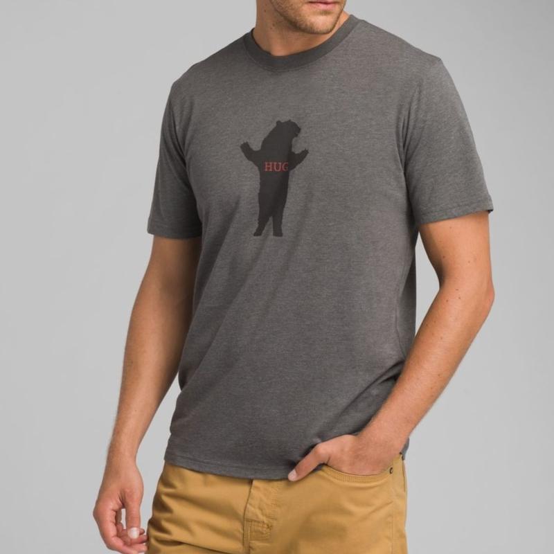 PRANA Bear Squeeze Journeyman T-Shirt Charcoal Heather