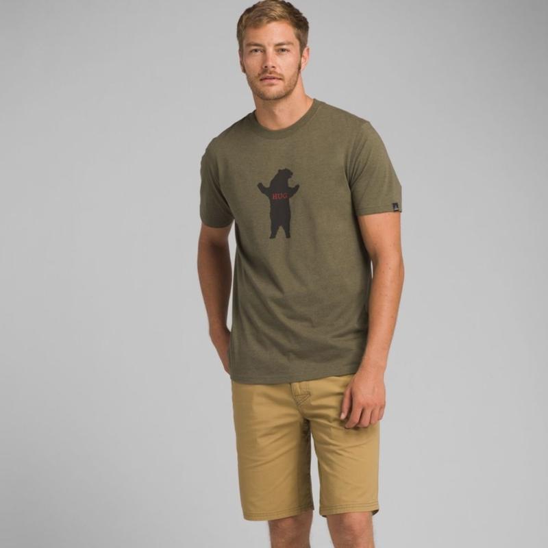 PRANA Bear Squeeze Journeyman T-Shirt Cargo Green Heather
