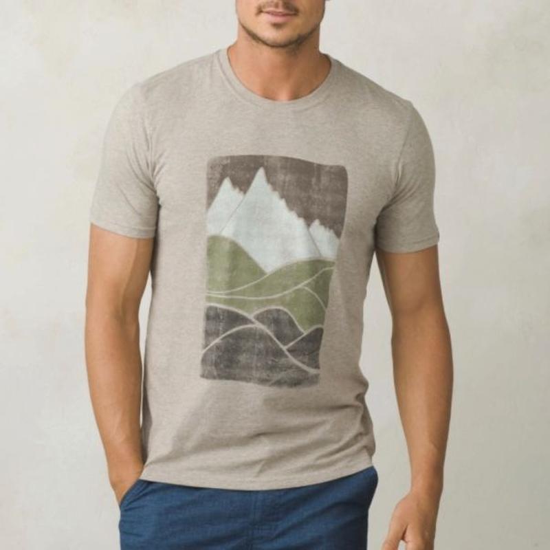 PRANA Ezer T-Shirt Khaki Heather