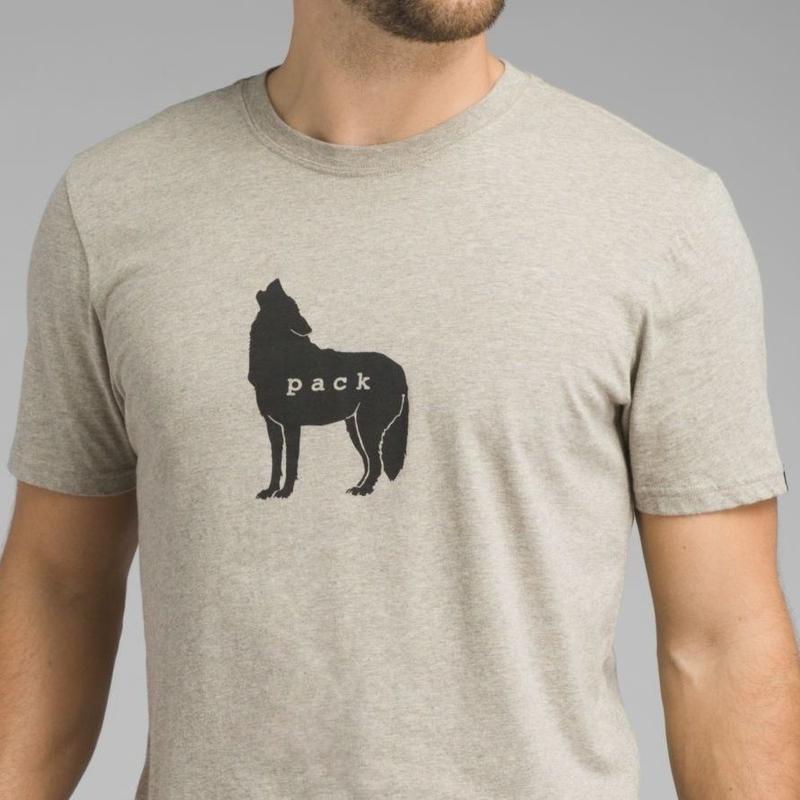 PRANA Wolf Pack Journeyman T-shirt Dark Khaki Heather