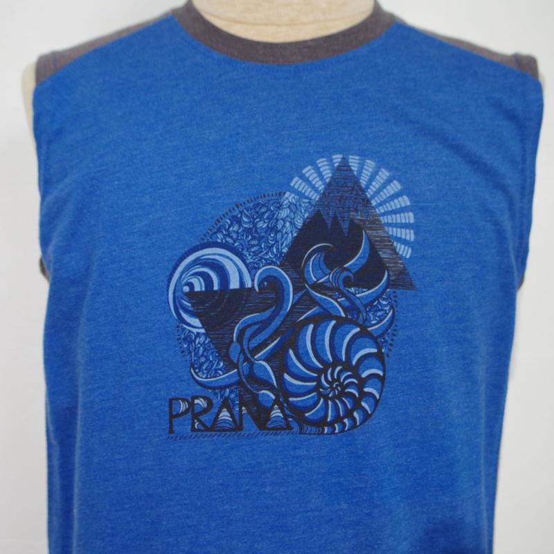 PRANA Molluusk Sleeve Less T-Shirt Sapphire