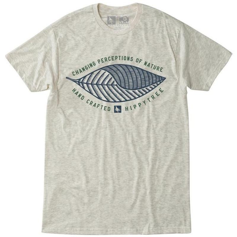 HIPPY TREE WAVE PLAM TEE HEATHER NATURAL