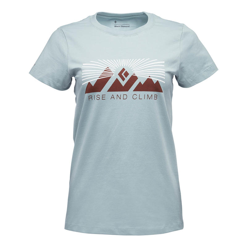 BLACK DIAMOND RISE AND CLIMB TEE WOMENS