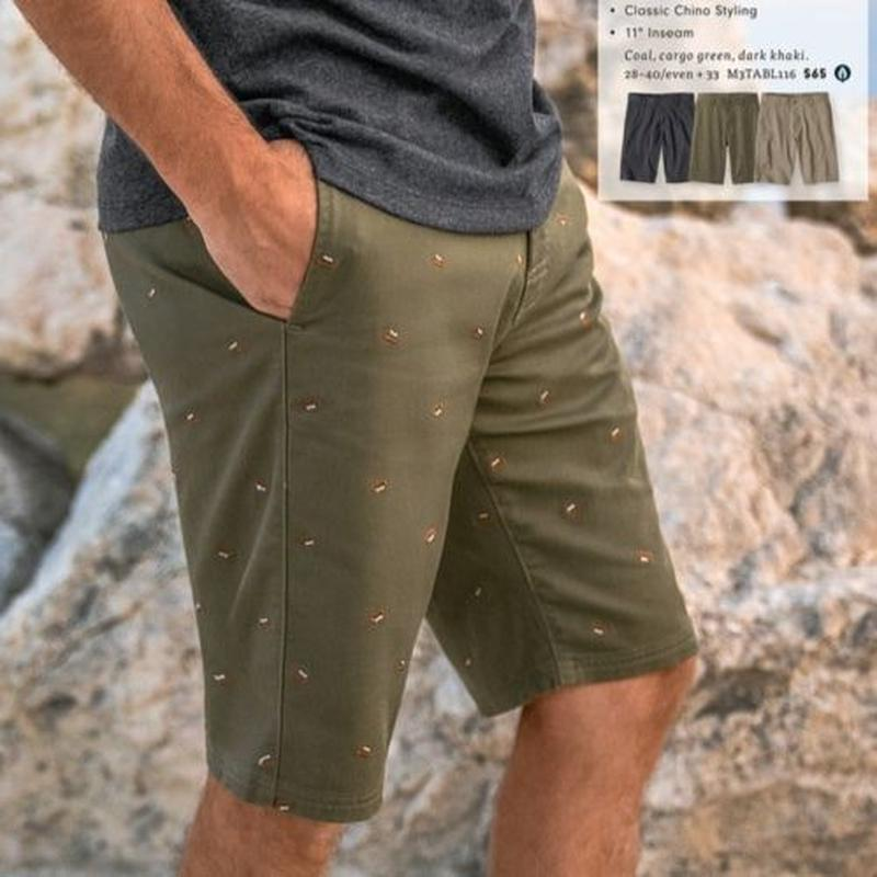 PRANA Table Rock Chino Short Cargo greeen