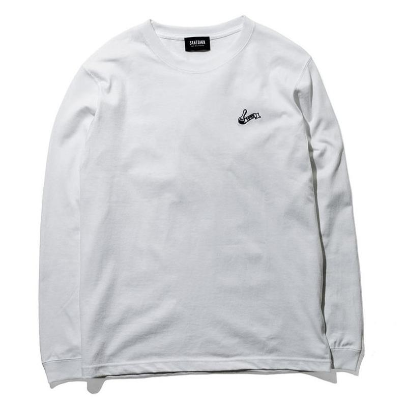 SANTOWN Painter Logo L/S -Tee White