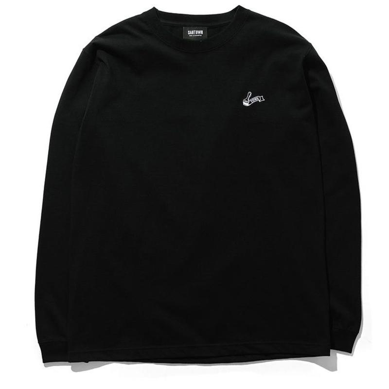 SANTOWN Painter Logo L/S -Tee Black