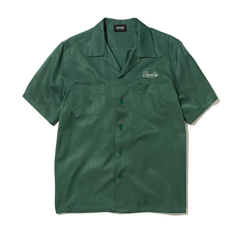 SANTOWN S/S Rayon SHIRTS - Green