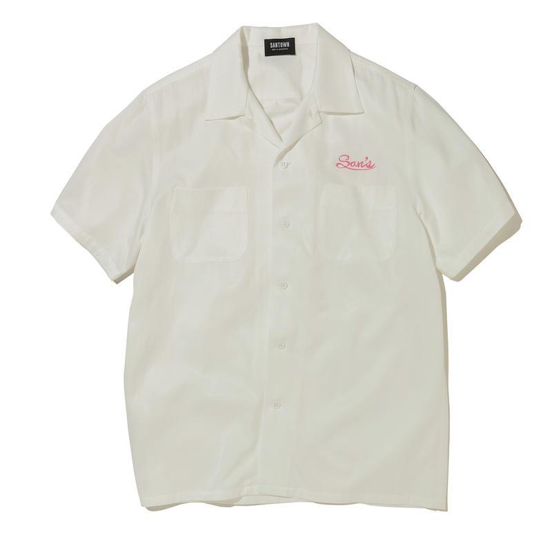SANTOWN S/S Rayon SHIRTS - White
