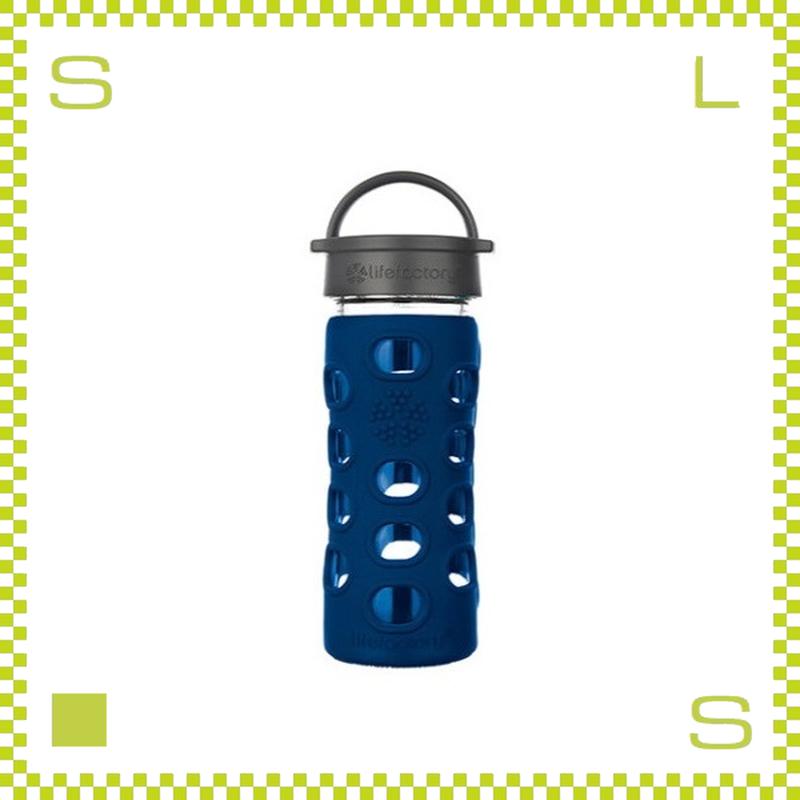 LIFEFACTORY ライフファクトリー グラスボトル クラシックキャップ 350 コバルト 350ml 携帯ボトル ガラスボトル