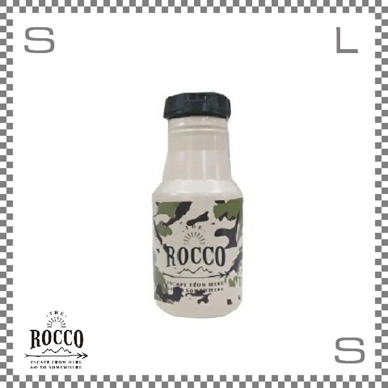 ROCCO ロッコ ワンタッチボトル 350ml カモフラベージュ Φ73/H178mm ステンレスボトル 魔法瓶 水筒
