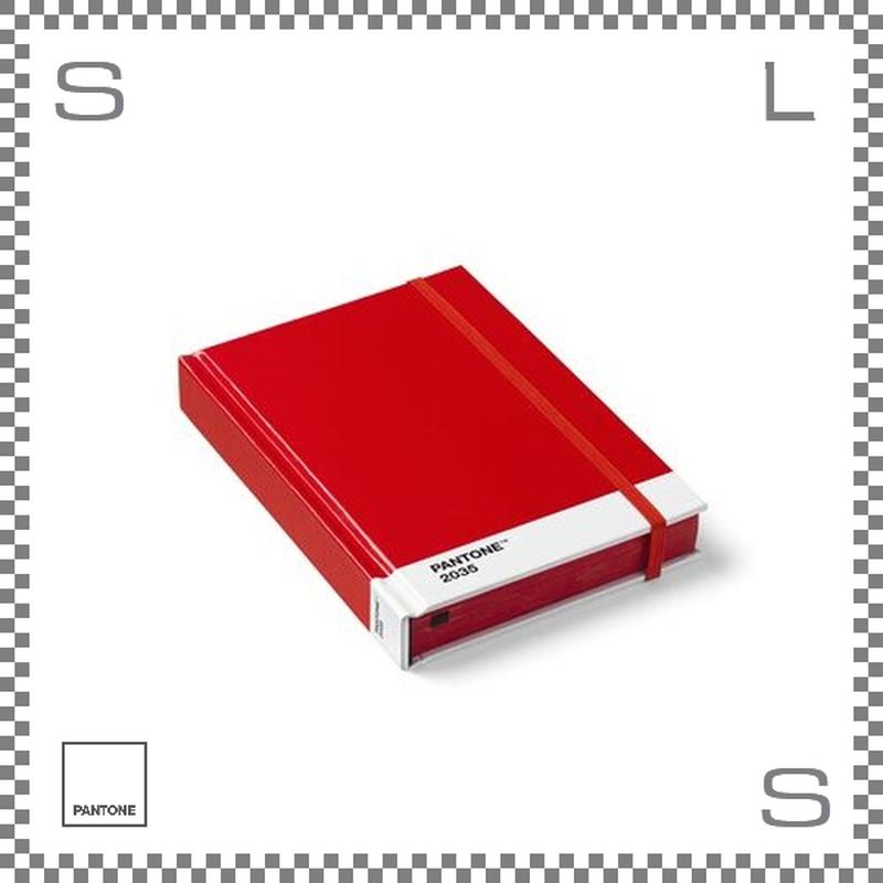 PANTONE パントン ノートブック Sサイズ レッド W170/D120/H22mm ストッパーゴム付き ダイアリー 日記帳 デンマーク