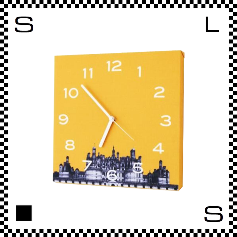 Color meets City オレンジ W30/D2/H30cm ウォールクロック 壁掛け時計 スイープクオーツ使用 日本製